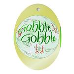 Gobble Gobble Oval Ornament
