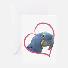 Hyacinth Macaw Heartline Greeting Card