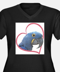 Hyacinth Macaw Heartline Women's Plus Size V-Neck