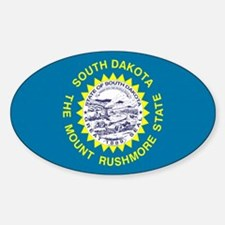 South Dakota State Flag Oval Decal