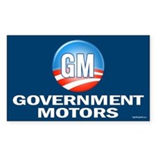 GM - Government Motors Rectangle Decal