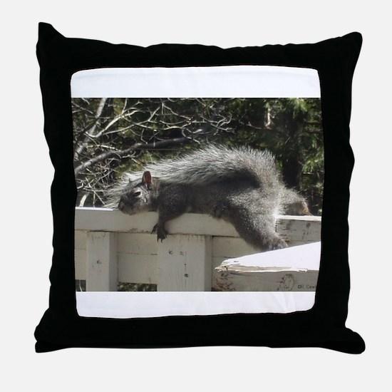 Bum Squirrel Throw Pillow