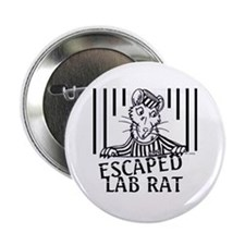 Escaped Lab Rat Button