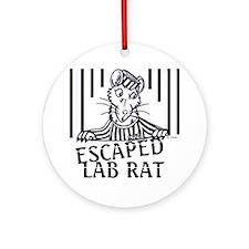 Escaped Lab Rat Ornament (Round)