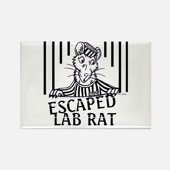 Escaped Lab Rat Rectangle Magnet