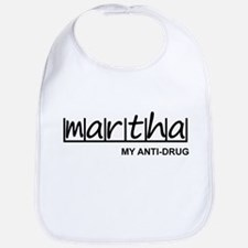 """Martha Anti Drug"" Bib"