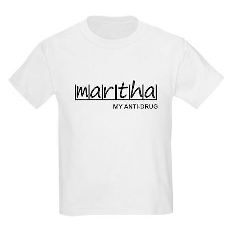 """Martha Anti Drug"" Kids Light T-Shirt"