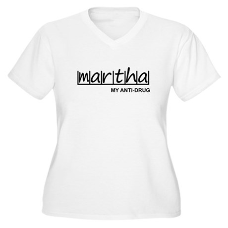 """Martha Anti Drug"" Women's Plus Size V-Neck T-Shir"