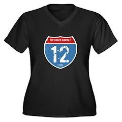 The Broad Highway Women's Plus Size V-Neck Dark T-