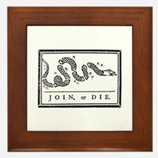 Join, or Die Framed Tile