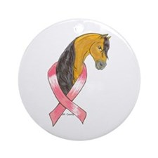 BSKN Pink Ribbon Ornament (Round)
