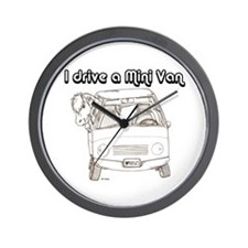 Blk I Drive A Mini Van Wall Clock