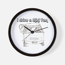 Blk I Drive A Mini Van Wall Clock