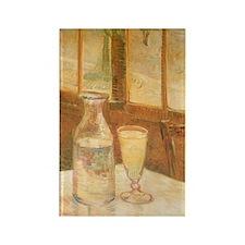 Van Gogh Still Life Absinthe Rectangle Magnet (100
