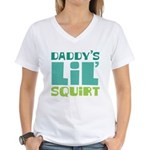 Daddy's Lil' Squirt Women's V-Neck T-Shirt
