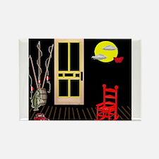 Pop Art Back Porch Rectangle Magnet (10 pack)