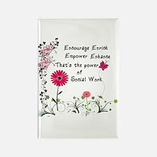 Power of Social Work Rectangle Magnet (10 pack)