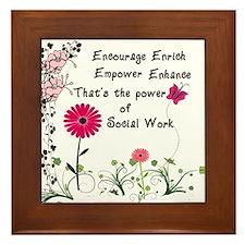 Power of Social Work Framed Tile