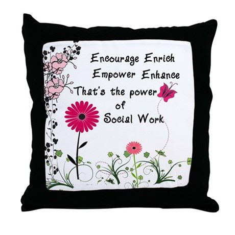Power of Social Work Throw Pillow