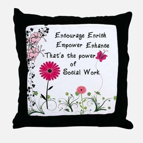 Power of Social Work Throw Pillow