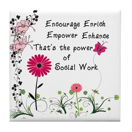 Power of Social Work Tile Coaster