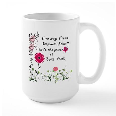 Power of Social Work Large Mug