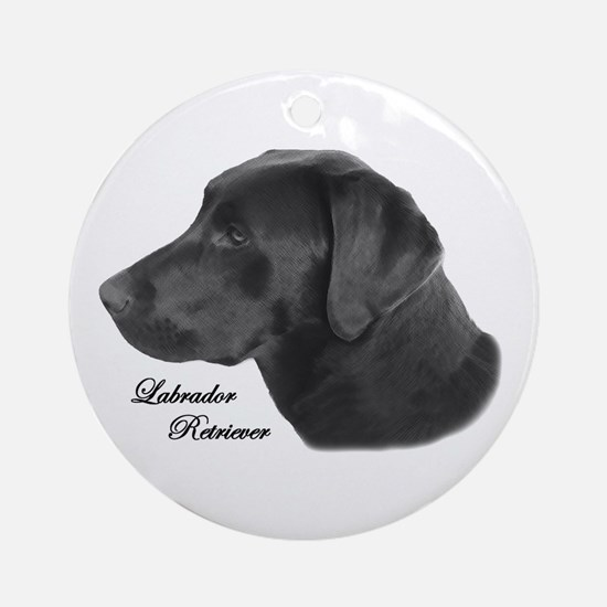 Labrador Retriever Silhouette Ornament (Round)