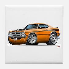 Dodge Demon Orange Car Tile Coaster