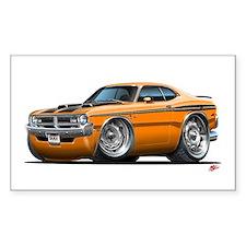 Dodge Demon Orange Car Rectangle Decal