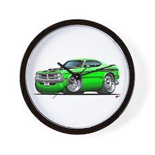 Dodge Demon Green Car Wall Clock