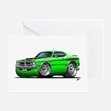 Dodge Demon Green Car Greeting Card