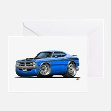 Dodge Demon Blue Car Greeting Card