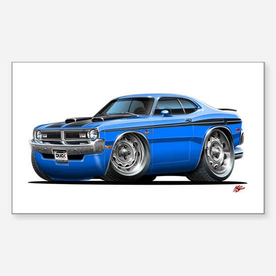 Dodge Demon Blue Car Rectangle Decal
