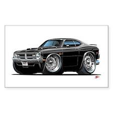 Dodge Demon Black Car Rectangle Decal