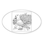 Show Racer Outline Oval Sticker (50 pk)