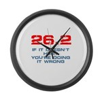 26.2 - If It Doesn't Hurt Large Wall Clock