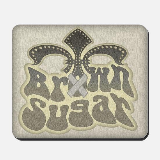 Brown Sugar Fleur De Lis Mousepad