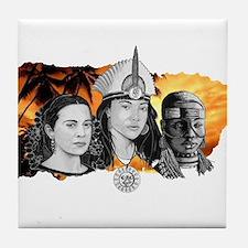 MI RAZA WOMEN WITH BORIKEN Tile Coaster