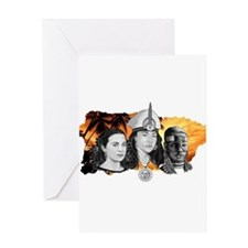 MI RAZA WOMEN WITH BORIKEN Greeting Card