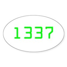 Leet Oval Decal