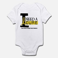 I Need A Cure 1 CHILDHOOD CANCER Infant Bodysuit