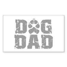Dog Dad Rectangle Decal