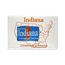 State of Indiana Rectangle Magnet