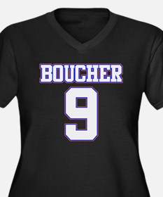 Boucher Women's Plus Size V-Neck Dark T-Shirt