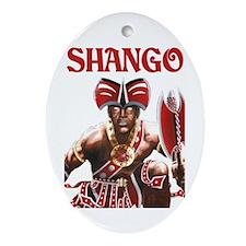 NEW!!! SHANGO CLOSE-UP Oval Ornament