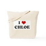 I Love CHLOE Tote Bag