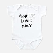 Annette loves daddy Infant Bodysuit