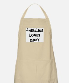 Angelina loves daddy BBQ Apron
