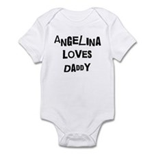 Angelina loves daddy Infant Bodysuit