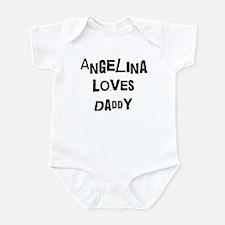 Angelina loves daddy Infant Bodysuit